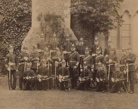 Photograph of Cheltenham Training College students in military dress