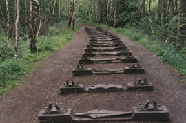 Photograph of sculpture Iron Road