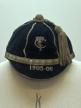 Cheltenham Training College Football sports cap belonging to Jack Reeves