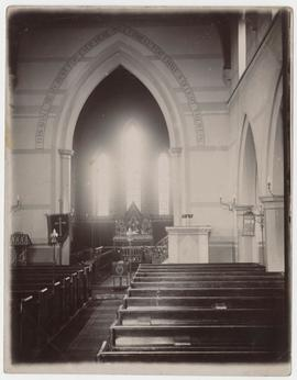 Photograph of interior of church, possibly St Martin's Bradley