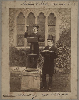Jury Auctioneer William MacArthur and Clerk W D Ricketts 1899-1900