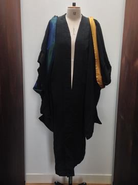Academic gown and two hoods, possibly belonging to Winifred Jones, Principal 1938 - 1960