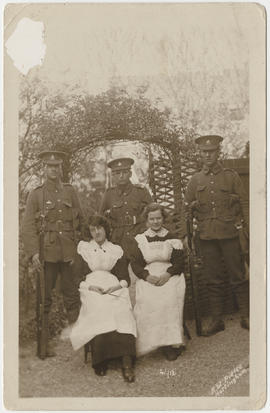 Photograph of three St Paul's students after they had joined the 19th Fusiliers