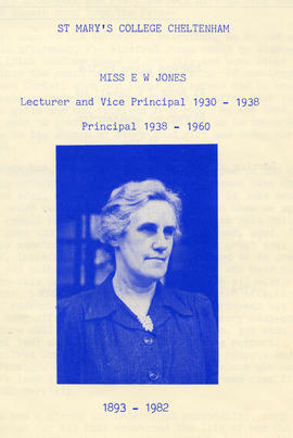 Booklet in memory of Ethel Winifred Jones (1893 - 1982) giving a brief biography of her life and achievements