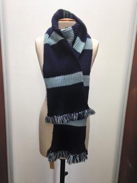St Paul's College navy and light blue striped scarf