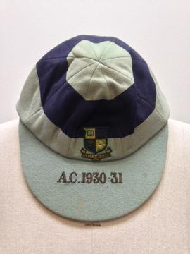 G A Catton's St Paul's College Athletic team cap 1930-1931